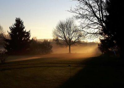 Golfplatz Ravensburg im Nebel